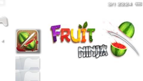 Fruit Ninja 1.1 [HomeBrew] от разработчиков нашего сайта