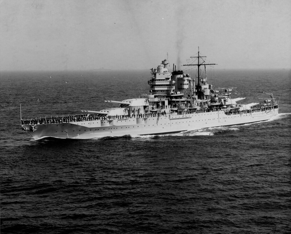 USS NEW MEXICO (BB-40) During the fleet review off New York City, 31 May 1934
