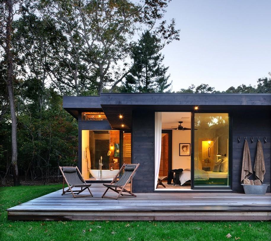 Небольшой загородный дом в штате Нью-Йорк, США