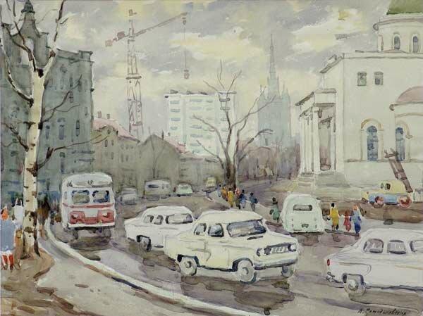 А. А. Ромодановская. Никитские ворота, 1974.