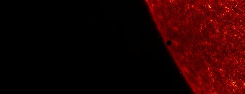 Марс над Солнцем