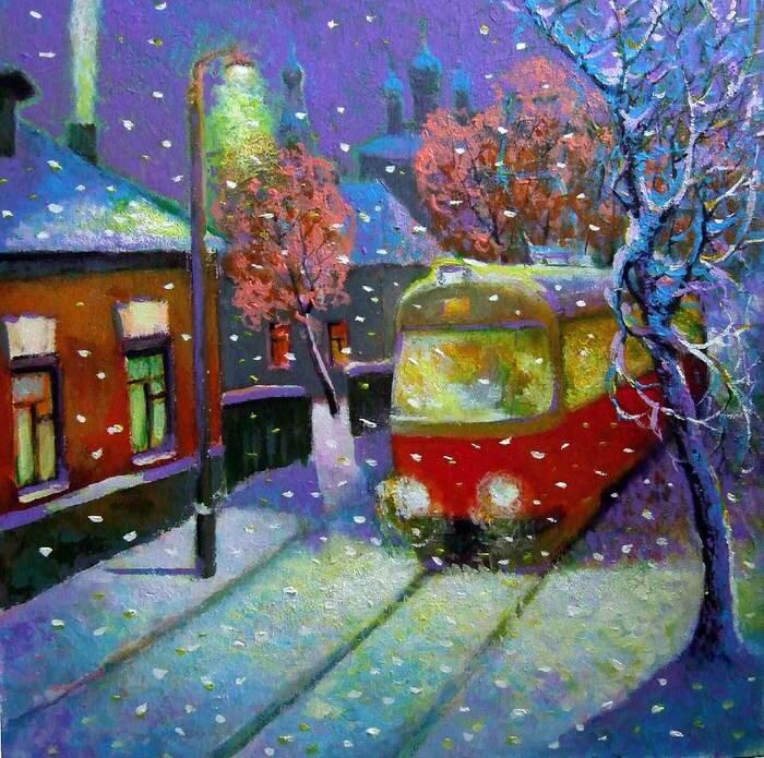 Днем, картинки зима в городе для детей