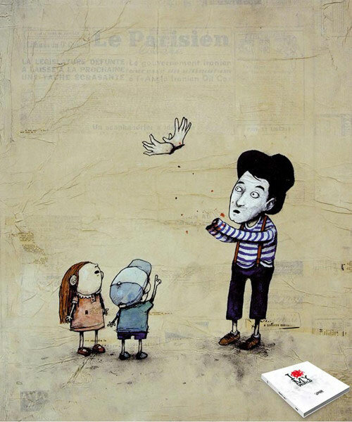 Французский художник с черным юмором