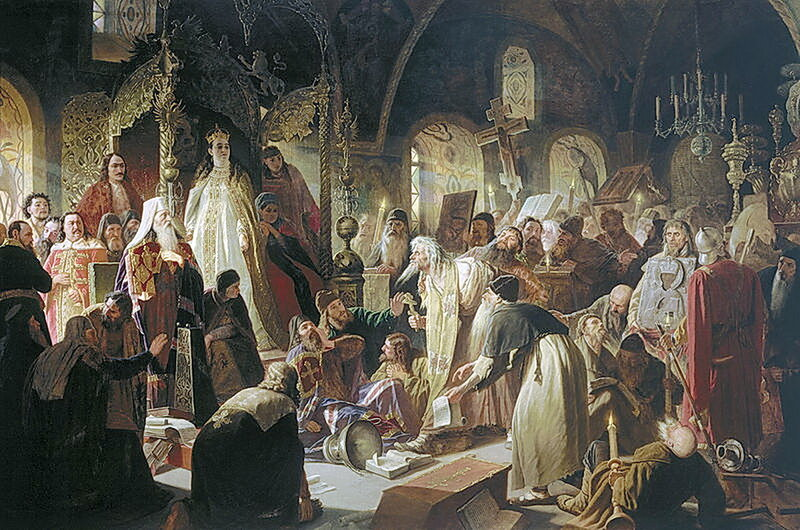 Василий Перов 1834 - 1882. Никита Пустосвят. Спор о вере