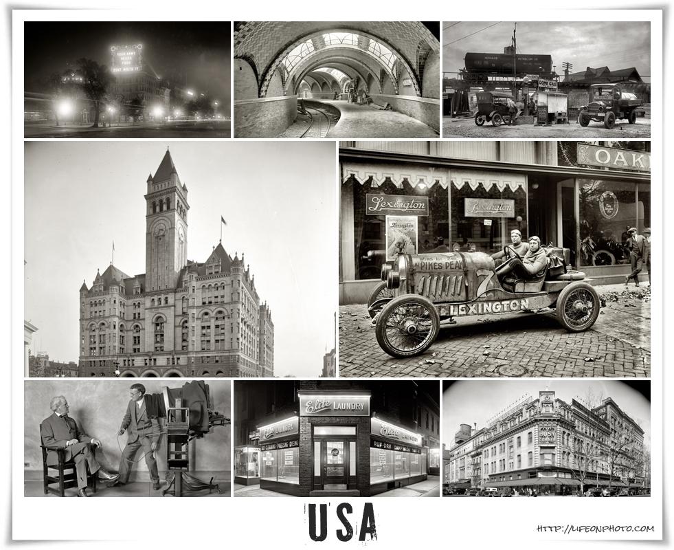 США ретро фотографии