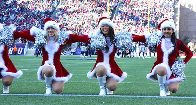 NFL Christmas 2011 Cheerleaders - New England Patriots