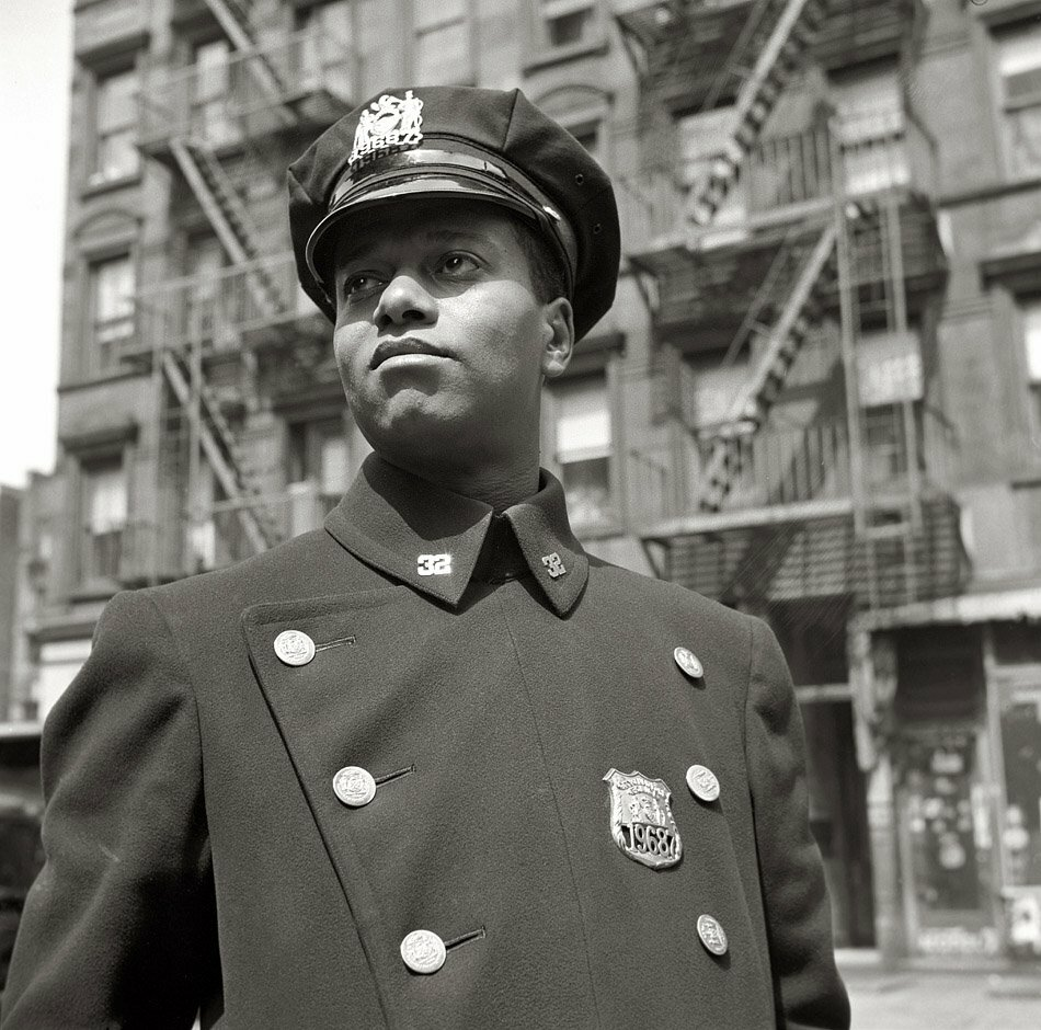 "Photographer Gordon Parks.New York, May 1943. ""Policeman in Harlem"""