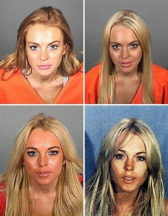Mugshot Lindsay Lohan