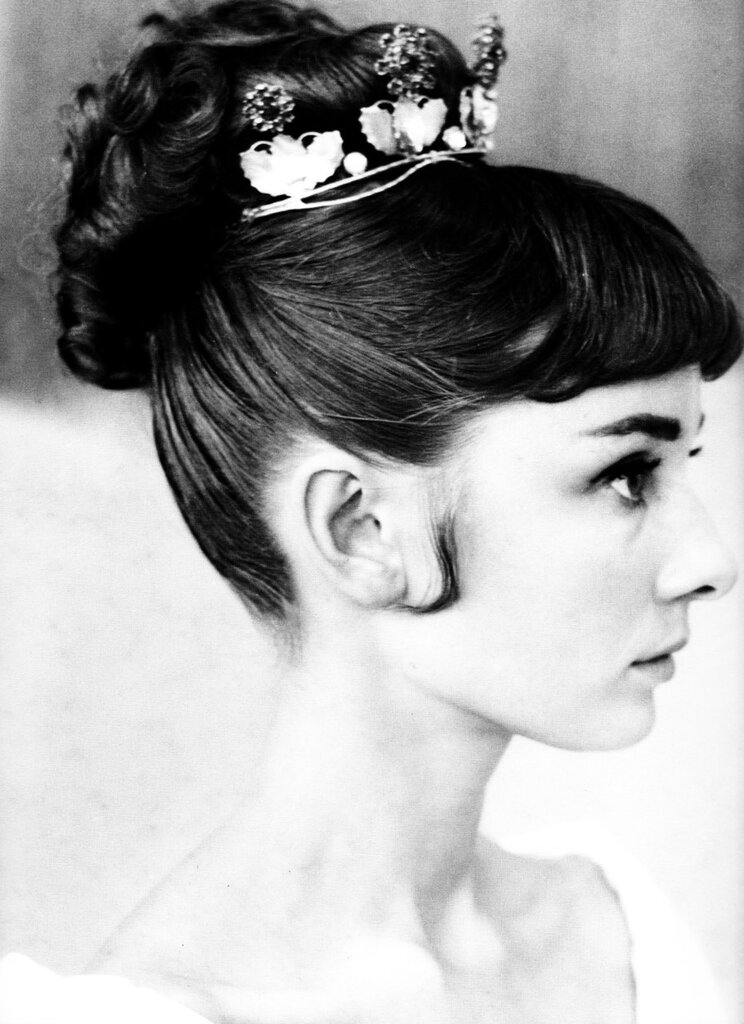 Audrey Hepburn hair test for War and Peace, 1955.