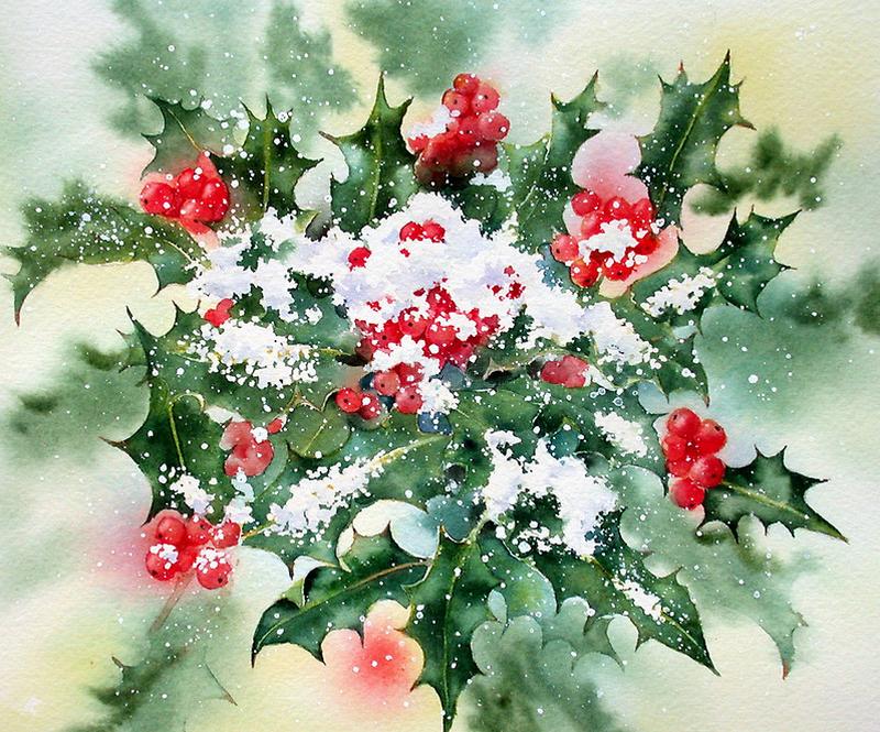 """Схема для вышивки  """"Рождественский букет """".  Наташа Ночка.  400."""