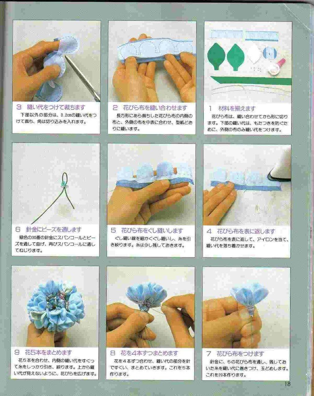 Украшение на руку из цветов из ткани своими руками инструкция