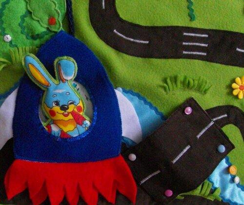 Развивающий коврик для детей Моулвиль... ракета