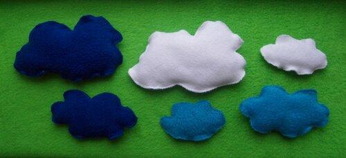Развивающий коврик для детей Моулвиль... облака