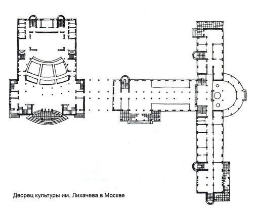 Дворец культуры им. Лихачева в Москве, план