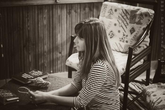 Домашняя фотосессия, фоторабота, портрет, интерьер