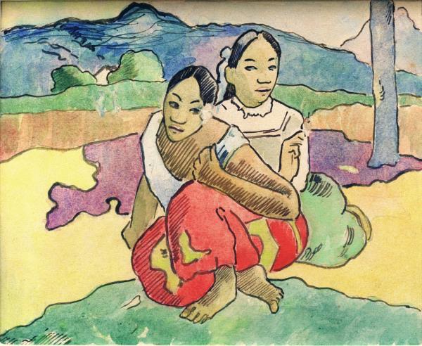 Gauguin/Studie zu: Wann heiratest Du? - Gauguin / Study for 'Nafea faa ipoipo' - Gauguin /  tude 'Nafea faa ipoipo'