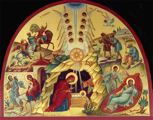 Image result for иконы рождества в храме Христа Спасителя