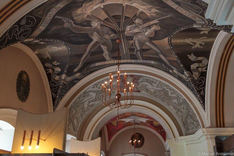 Роспись потолка Тульского музея оружия