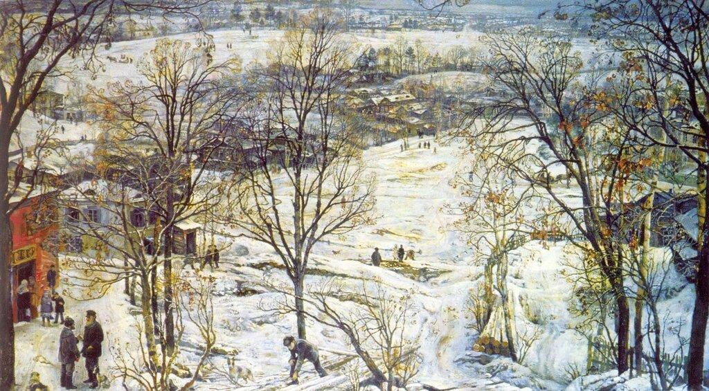 Исаак Израилевич Бродский. «Зима».