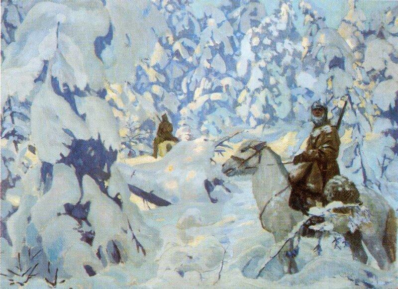 Аркадий Александрович Рылов.  «На страже»