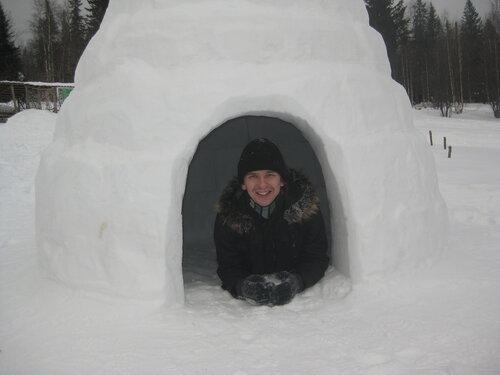 снежная изба