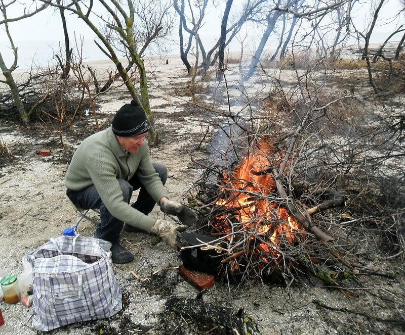 31 декабря 2011, побережье Азовского моря, Ясенская коса