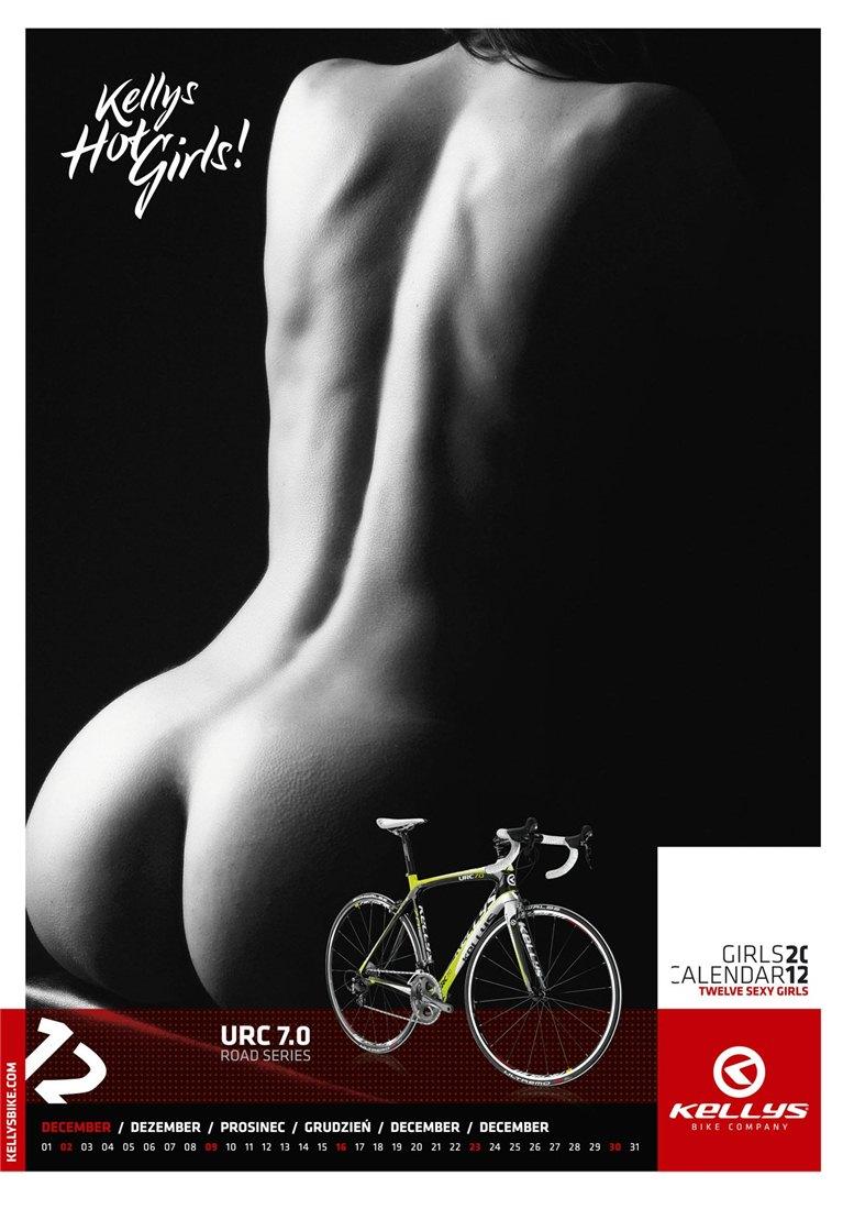 Обнаженные девушки в календаре производителя велосипедов Kellys на 2012 год - декабрь