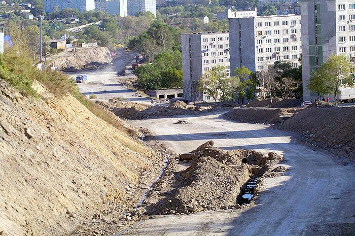 Дорога во Владивостоке в районе Чуркина