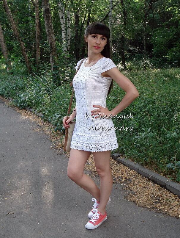 Платье крючком мотивы лета