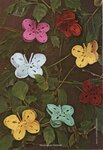 свой цитатник или сообщество!  Объемные бабочки, связанные крючком.