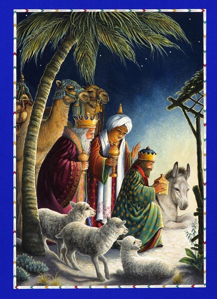 Три короля приносят дары