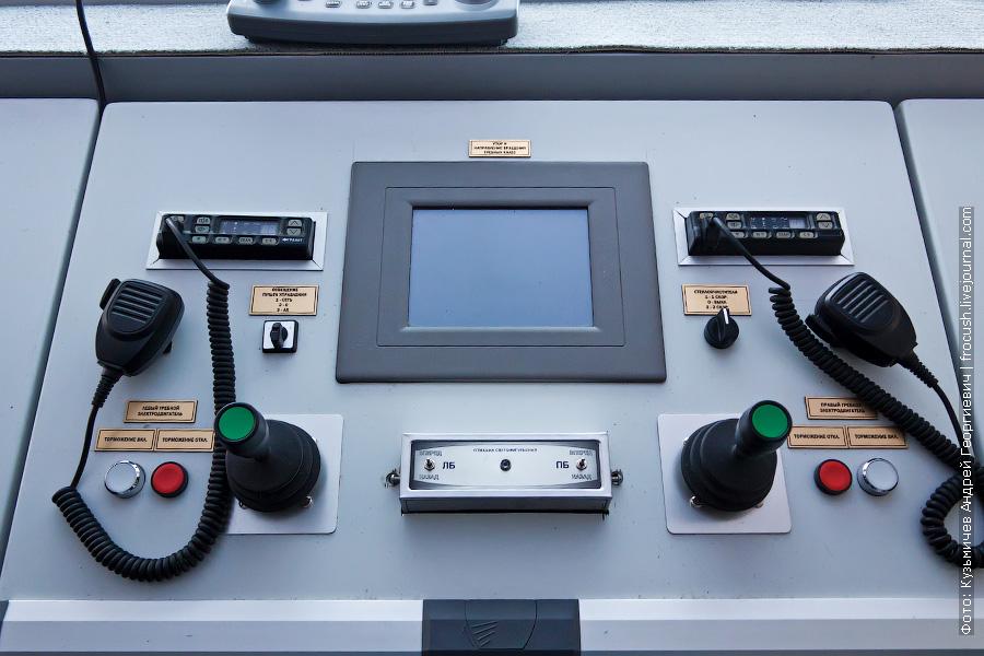 Управление судном осуществляется двумя джойстиками