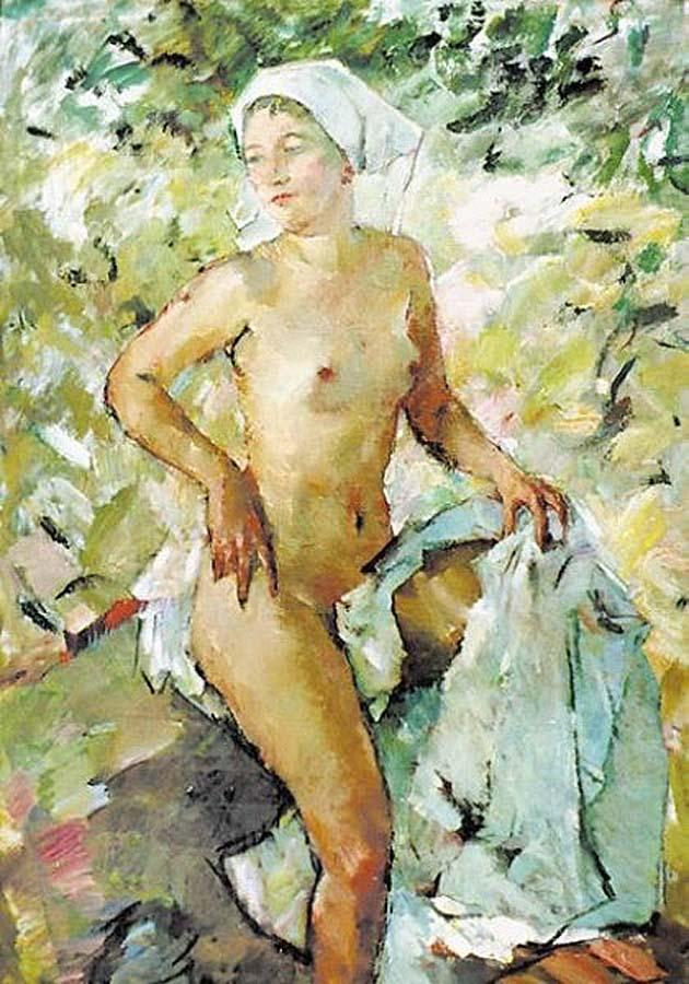Большая обнажённая в свободно падающем свете. свете. (1953) Лутц Антон  (1894-1992) Австрия