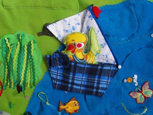 Детский развивающий коврик Моулвиль... кораблик