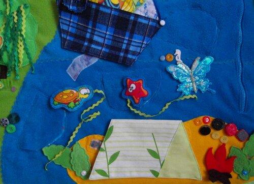 Развивающий коврик для детей Моулвиль... море, остров, задание-перетягивалка