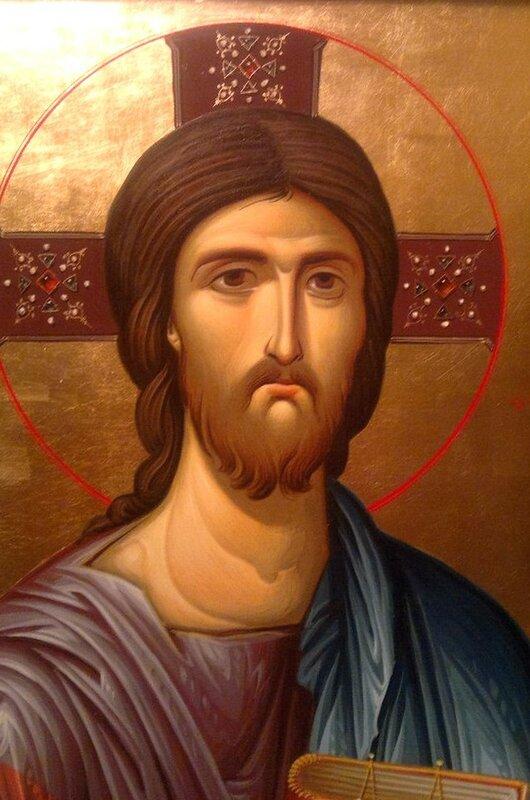 Христос Вседержитель. Иконописец Зураб Модебадзе. Лик.