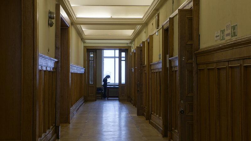 ГЗ МГУ, коридор 16 этажа