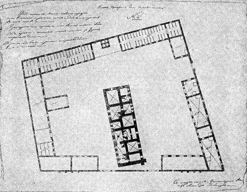 Рисунок 83. Пожарное депо, план (ЦГАДА).