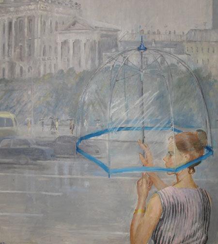 Ю. И. Пименов. Прозрачный зонтик. 1973.
