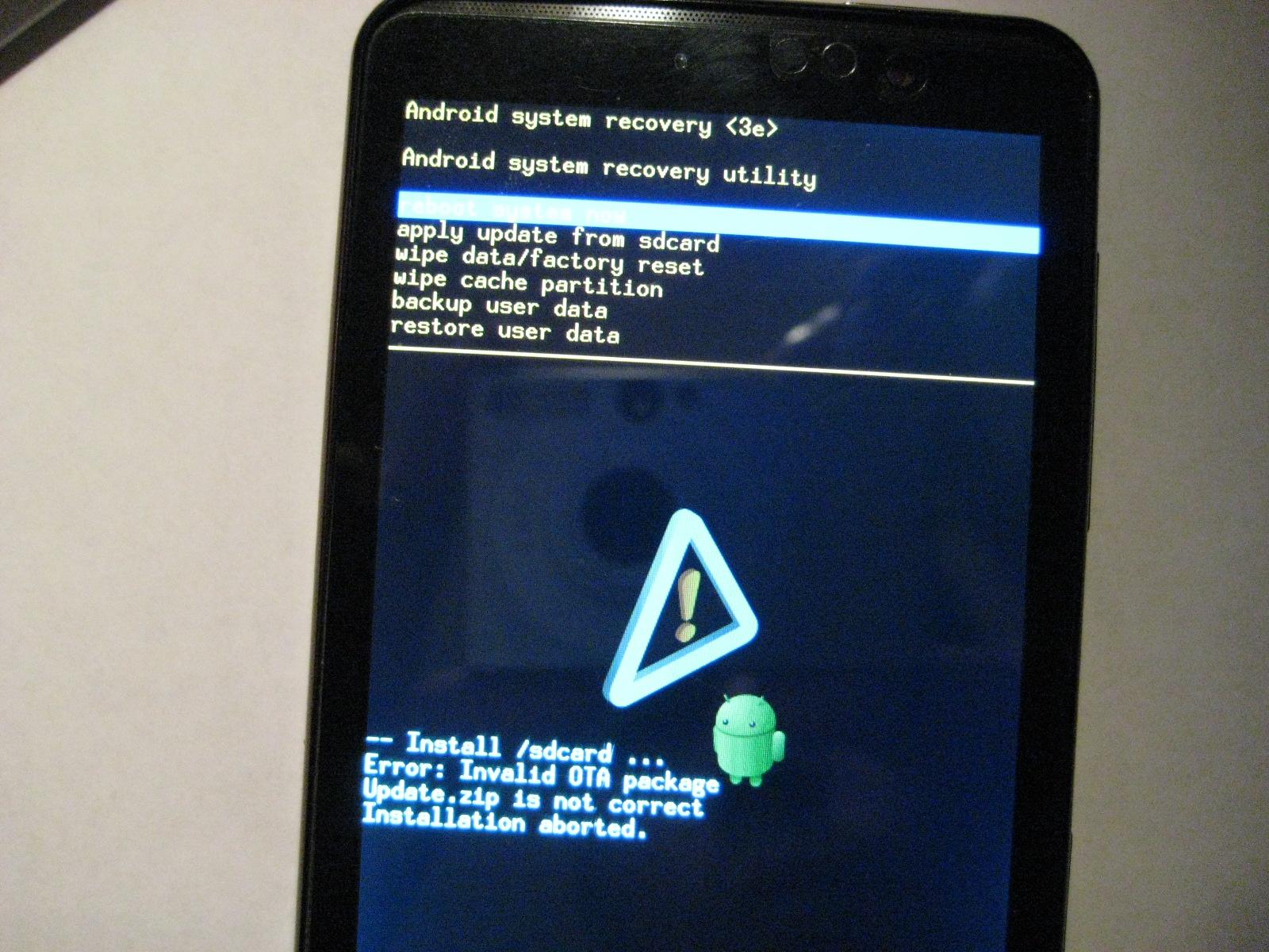 Что делать если слетела прошивка на андроид на планшет