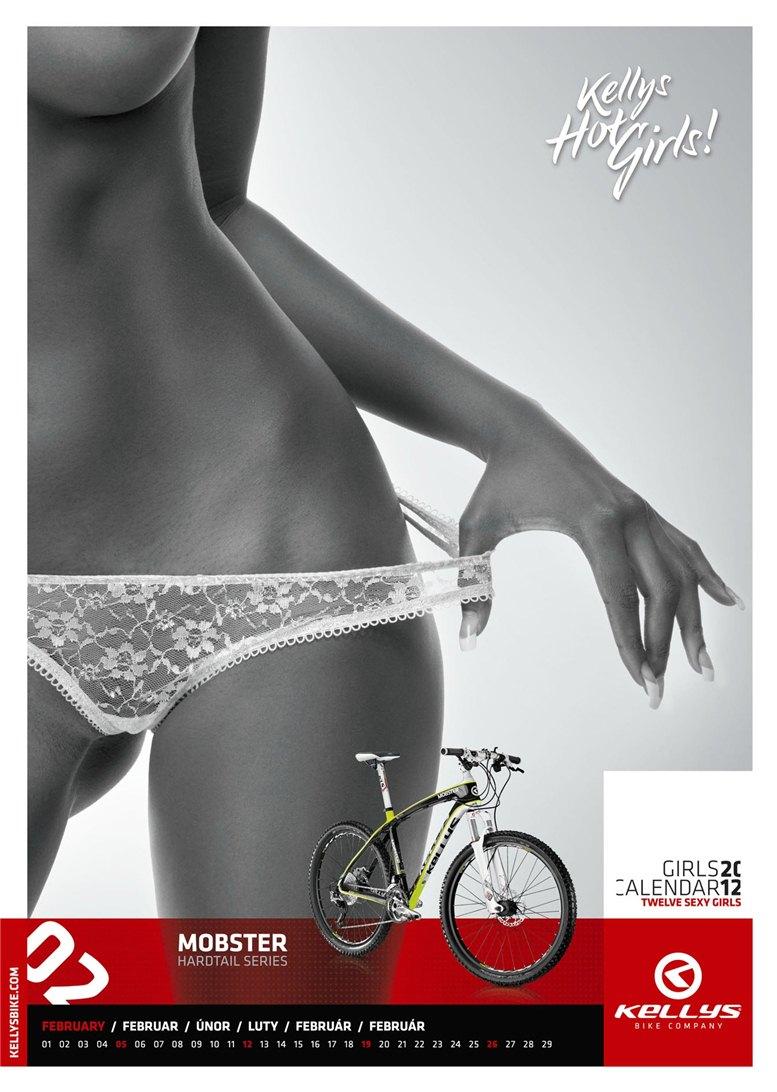 Обнаженные девушки в календаре производителя велосипедов Kellys на 2012 год - февраль