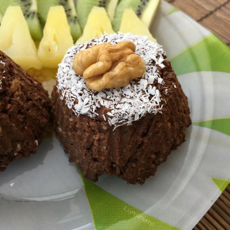 Шоколадные кексы без выпечки