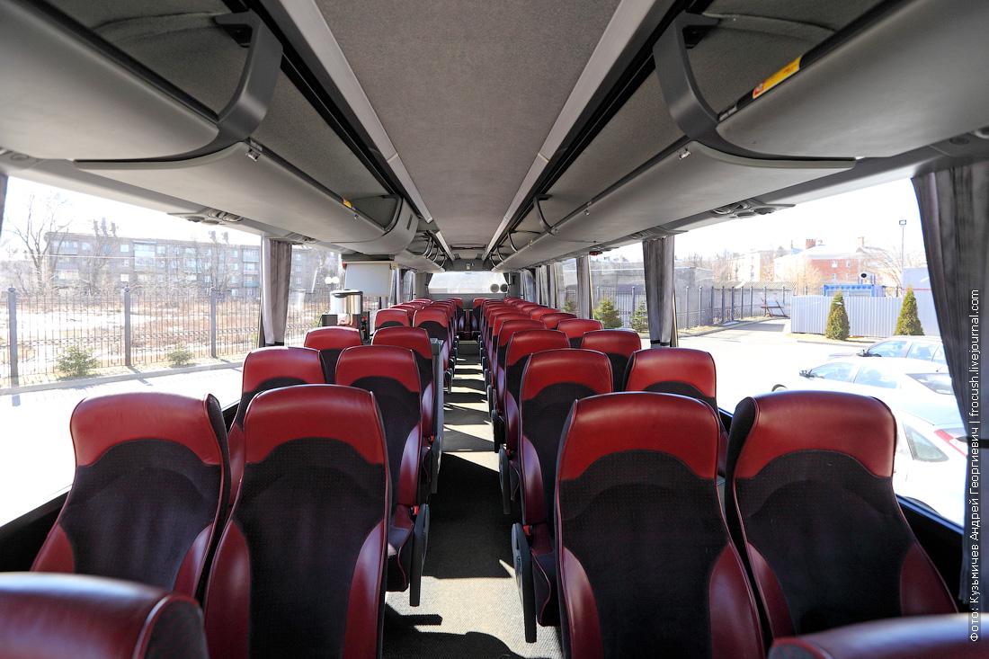 салон автобуса Bova фото