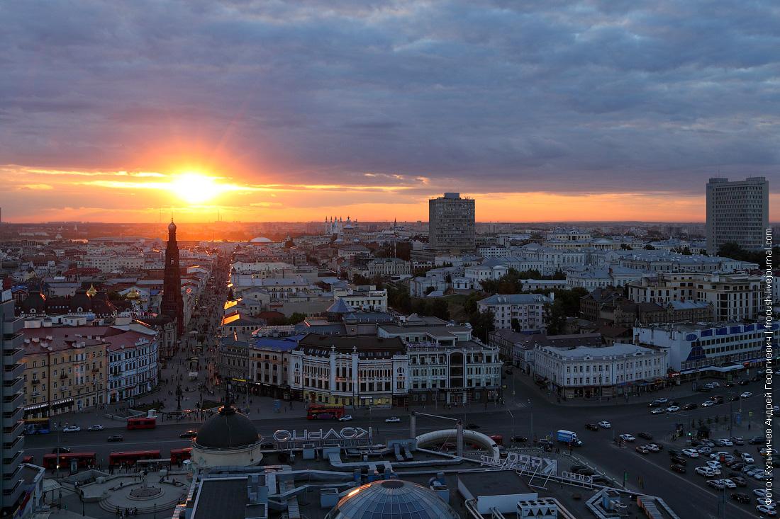 закат в Казани фото