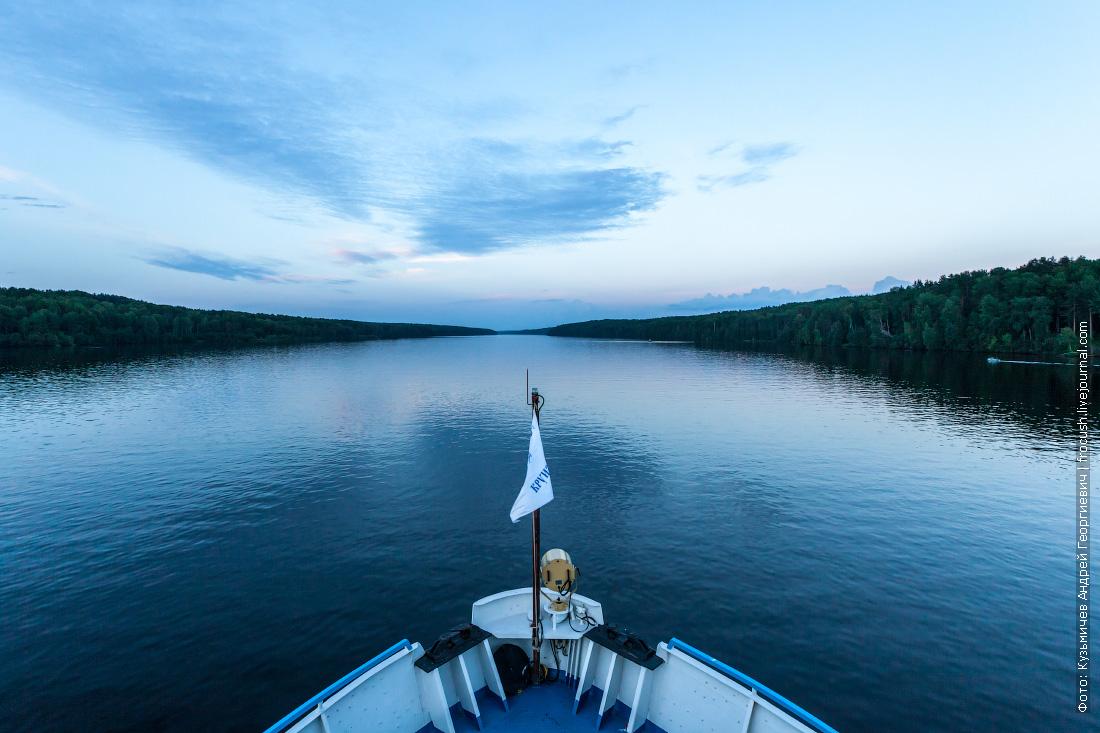 вечерняя фотография река свирь