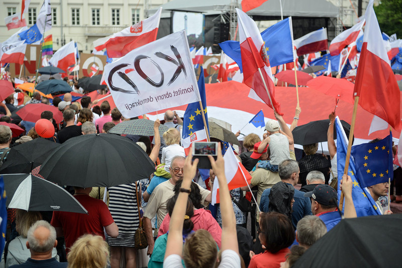 POLAND WARSAW OPPOSITION RALLY