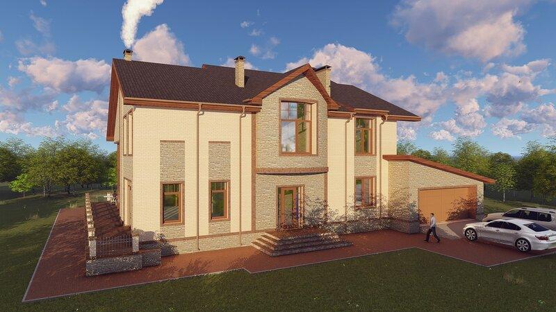 Проект дома, визуализация 8