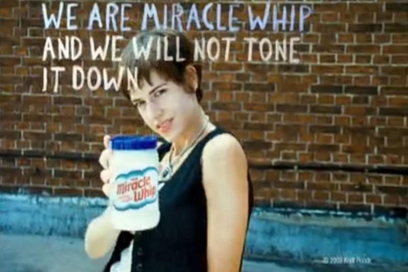 Бунтарская реклама майонеза: «Мы — Miracle Whip, и мы не собираемся убавлять звук». Раньше вывести и