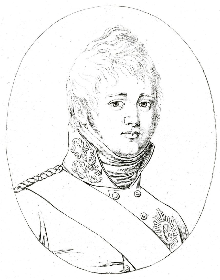 115. Портрет Императора Александра І, гравированный Кюгельхеном