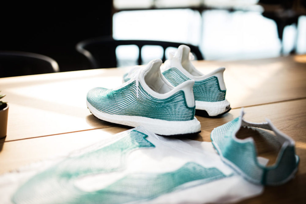 Image via Adidas Stitched with thread produced from discarded fishing nets, Adidas ' newest sh